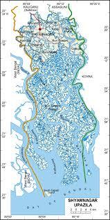 Map Of Bangladesh Maps Of Bangladesh Shyamnagar Upazila
