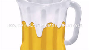 Inflatable Table Top Buffet Cooler How To Inflate A Giant Party Inflatable Youtube