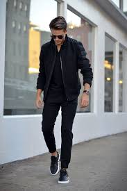 mens casual s style look 2017 2018 black on black s casual