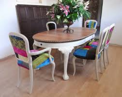 shabby chic dining chairs etsy
