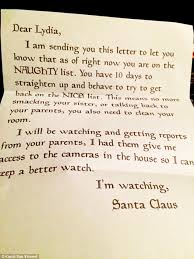 indiana pens letter to from santa to encourage