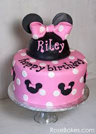 minnie mouse birthday cakes behance