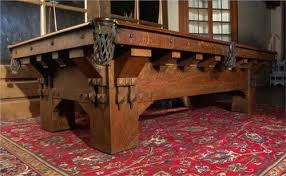 brunswick mission pool table circa 1900 brunswick mission oak billiard table