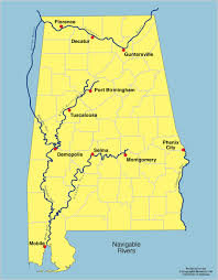 United States Map With Lakes And Rivers by Alabama Outline Maps And Map Links