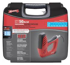 et50red arrowpro electrical staple gun uses six sizes of t50