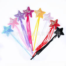 ribbon sticks kids princess sequins fairy magic wand sticks ribbon