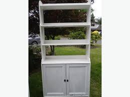 White Shabby Chic Bookcase Shabby Chic Ikea Leksvik Bookcase W Doors Saanich Victoria