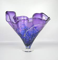 Handkerchief Vase Thomas Chapman Signed Art Glass Handkerchief Vase Hand Blown Ebth