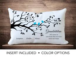 grandmother gift grandmother gift pillow gift family tree pillow