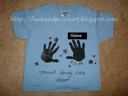 mom u0027s handy little helper t shirt craft fun handprint art