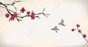 Peinture Cerisier Japonais by Dessin Fleur De Cerisier Banque D U0027images Vecteurs Et