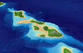 Map Hawaii Main Hawaiian Islands Multibeam Bathymetry Synthesis