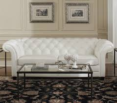 White Leather Tufted Sofa White Leather Tufted Sofa Classic Chesterfield Design Top Grain