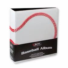 baseball photo album 3 in album baseball collectors album premium white