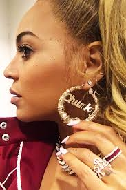 beyonce earrings beyoncé same yeah pretty much need these chunky bamboo