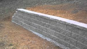 concrete block retaining wall completed youtube