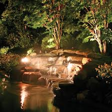 Outdoor Water Features With Lights by Landscapes Outdoor Lighting Perspectives