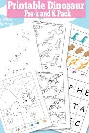 dinosaur printable preschool and kindergarten pack itsy bitsy fun