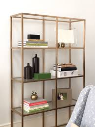 Metal Bookcases Creative Gold Metal Bookcase Best Home Design Lovely And Gold