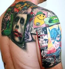 3d comic strip tattoo tattoo grid