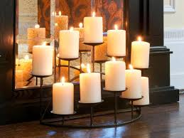 fireplace candle holder interior design