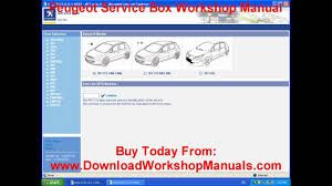 peugeot workshop manual youtube