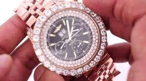 bentley pink diamonds breitling bentley watch pink gold plated 15 carat diamonds youtube
