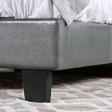 Platform Bed Skirt - furniture of america kutty modern full size padded platform bed
