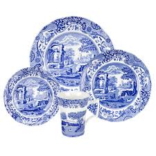 spode blue italian 32 set made in spode uk