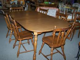 Maple Dining Room Sets Used Dining Set With 6 Maple Chairs And 2 Leaves Cherry Pickin U0027s