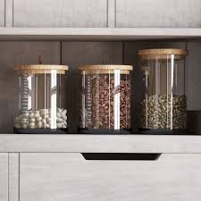 rustic kitchen canister sets canisters jars birch