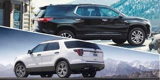 ford explorer vs chevy tahoe comparison chevrolet traverse vs ford explorer suvs fargo
