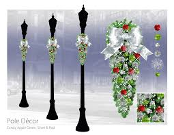 column spray commercial christmas decoration downtown decorations