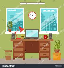 Office Desk Plants by Vector Colorful Office Desk Indoor Plants Stock Vector 484762663