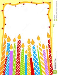 Birthday Invitation Cards Free Candles Birthday Invitation Card Royalty Free Stock Image Image