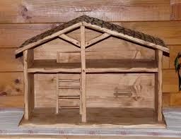 deco chalet de montagne crèche de noel artisanale en bois deco chalet montagne