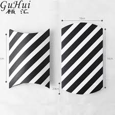 black and white striped gift bags black white striped pillow shape candy box christmas gift bag