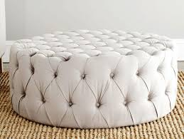Tufted Round Ottoman Coffee Table by Furniture Home Round Tufted Leather Ottoman Coffee Table What