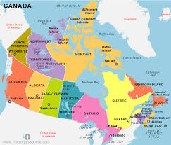 canadian map capitals citizenship test study help canada
