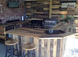 White Hut Kitchen by Outdoor Kitchen Made From Pallets A Great Way To Recycle Pallet