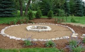 Large Firepits Large Slabs Of Create A Looking Pit Surrounded