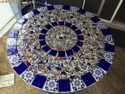 Mosaic Patio Furniture by Mosaic Tile Patio Table Hometalk