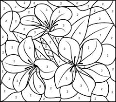 color number coloring pages tropical flower printable color