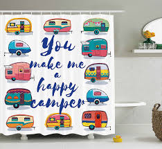 buy happy camper fabric and get free shipping on aliexpress com