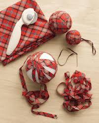 plaid ball ornaments plaid crafts and plaid fabric