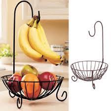 metal fruit basket novelty kitchen metal fruit basket with detachable banana hanger