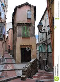 Narrow Houses Street In Menton Narrow Houses Stock Image Image 15099981