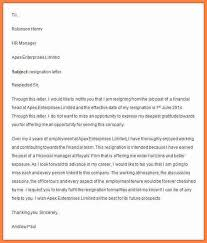 9 resignation letter format with notice period doc notice
