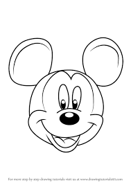 learn draw mickey mouse face mickey mouse clubhouse