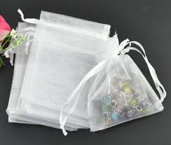 white organza bags wholesale mini jewelry packing bags white organza bags 9 12cm